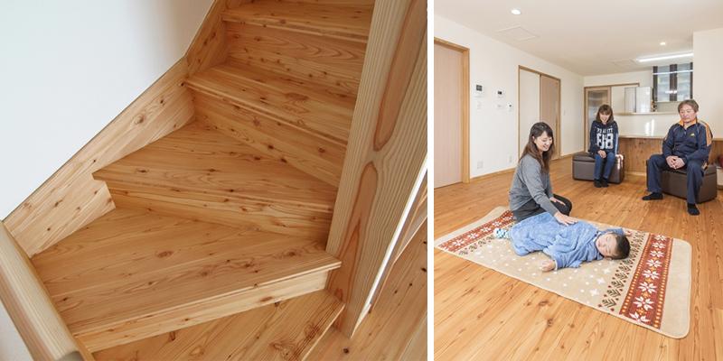 階段材/国産から松 3層パネル・床材/国産から松
