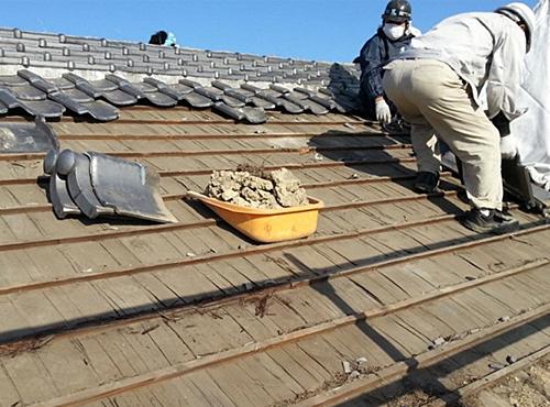 屋根の施工
