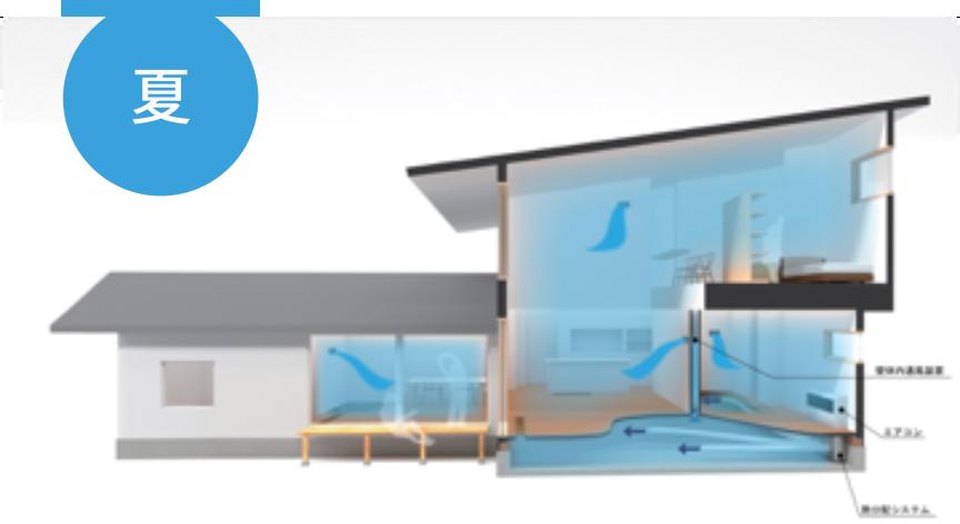 室内の風の流れを分析し、通風を活かした家を設計